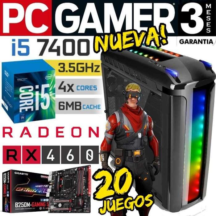 Pc Gamer Core I5 7ma. Gen. Versa C22 Rgb B250 Rx460 20juegos