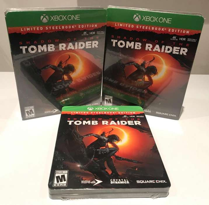 Shadow Of The Tomb Raider Steelbook Edition Xbox One, Sellado