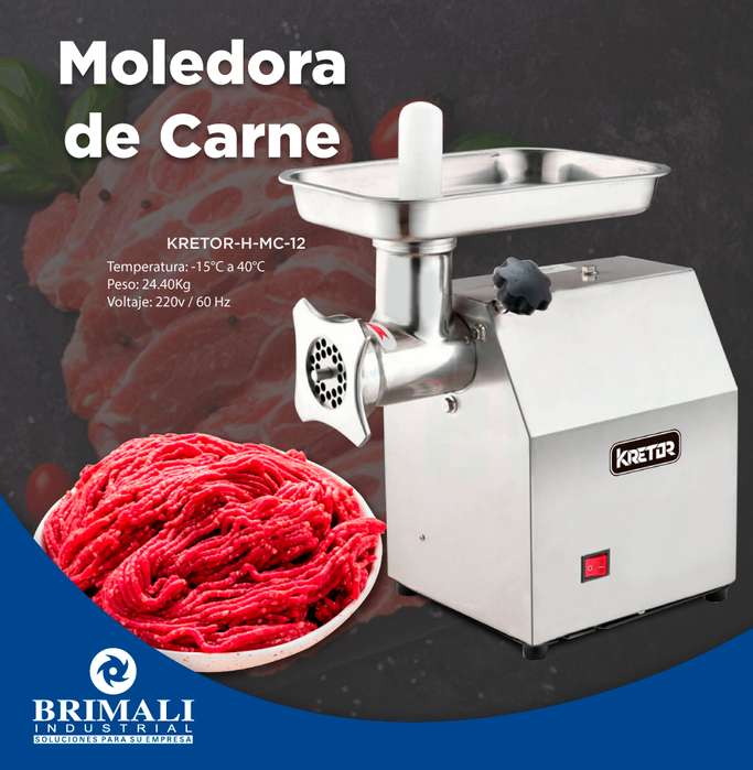 MOLEDORA DE CARNE INDUSTRIAL - BRIMALI INDUSTRIAL
