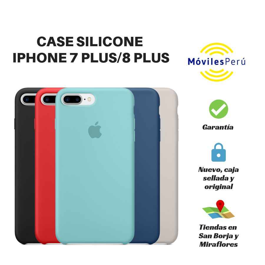 CASE SILICONE IPHONE 7 PLUS/8PLUS NUEVO, ORIGINAL, TIENDAS FÍSICAS