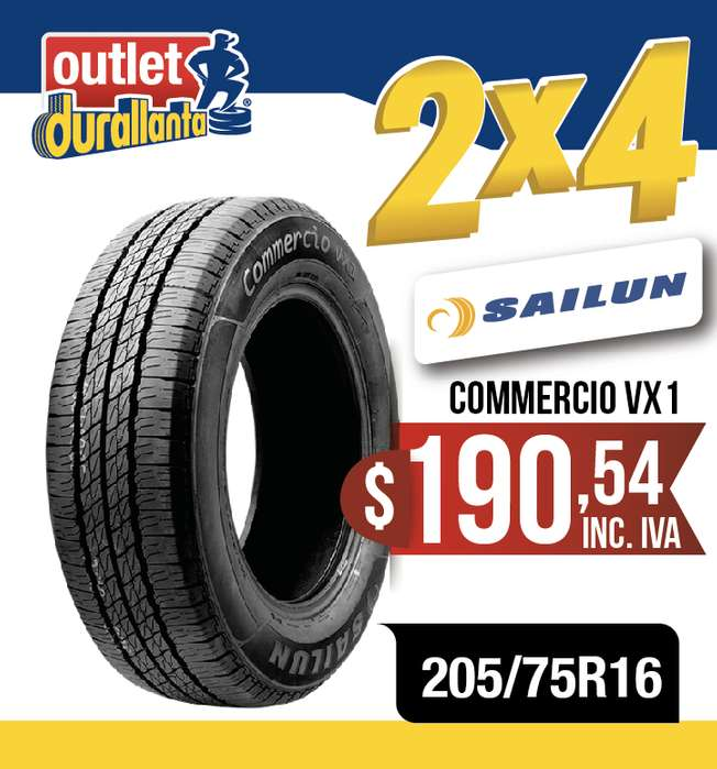 <strong>llanta</strong>S 205/75R16 SAILUN COMMERCIO VX1 SPRINTER 515 CDI DAILY CRAFTER 30