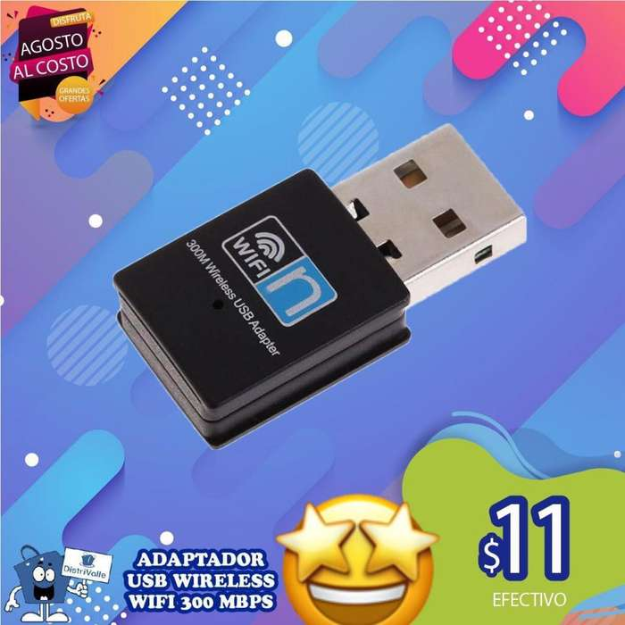 ADAPTADOR USB WIRELESS WIFI 300MBPS