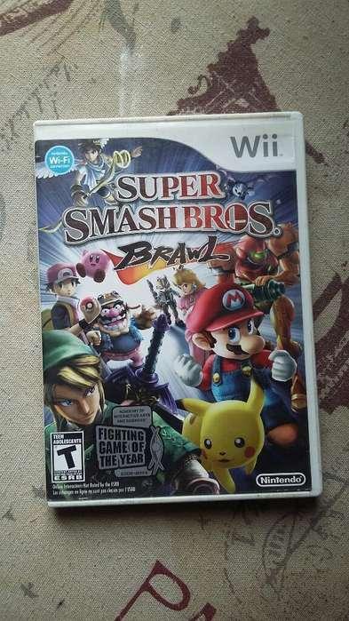 Juego de Nintendo Wii Super Smash Bross