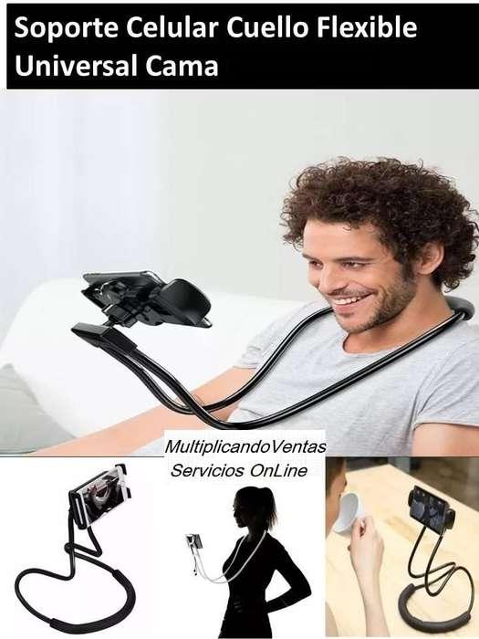 Soporte Universal para Cuello y/o Cintura sin manos Multifunción flexible