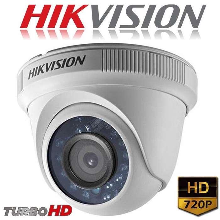 Cámara Domo Plástica Hikvision Hd 720p. Domo Hikvision. Cctv