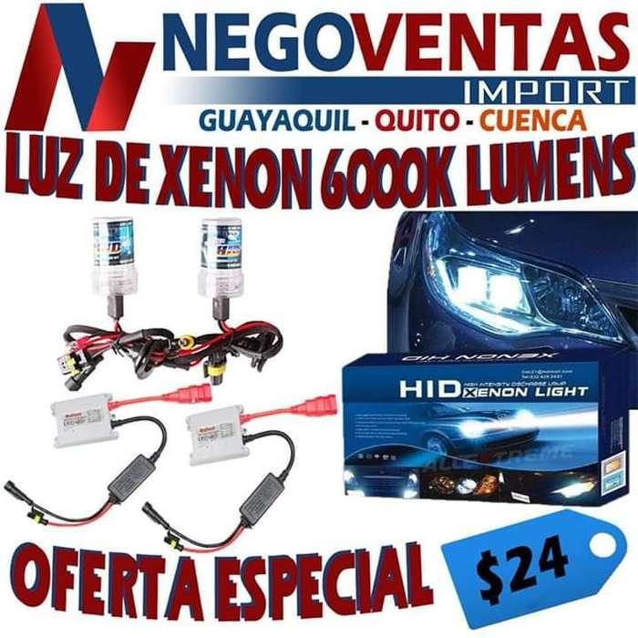LUZ DE XENON 6000K LUMENS PARA CARRO PRECIO OFERTA 24