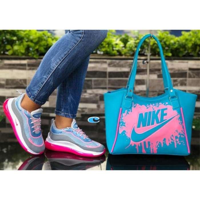 Tenis Nike en Combo Air Max Bolso
