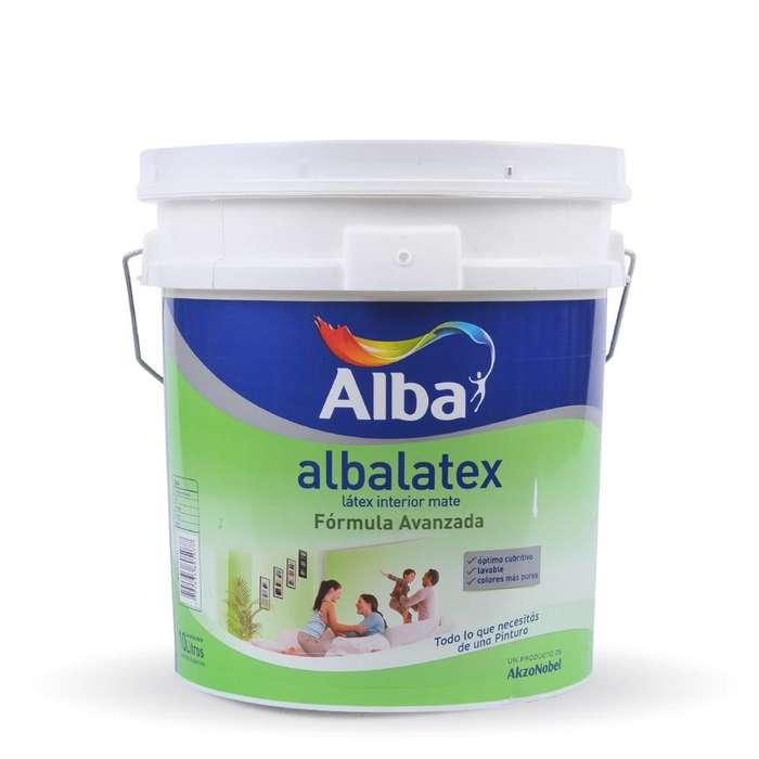 Pintura: Albalatex Latex interior Mate x 20 lts. Imperdible