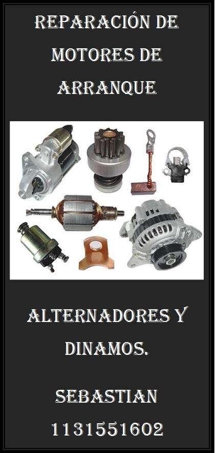 Reparacion de arranques, alternadores y dinamos