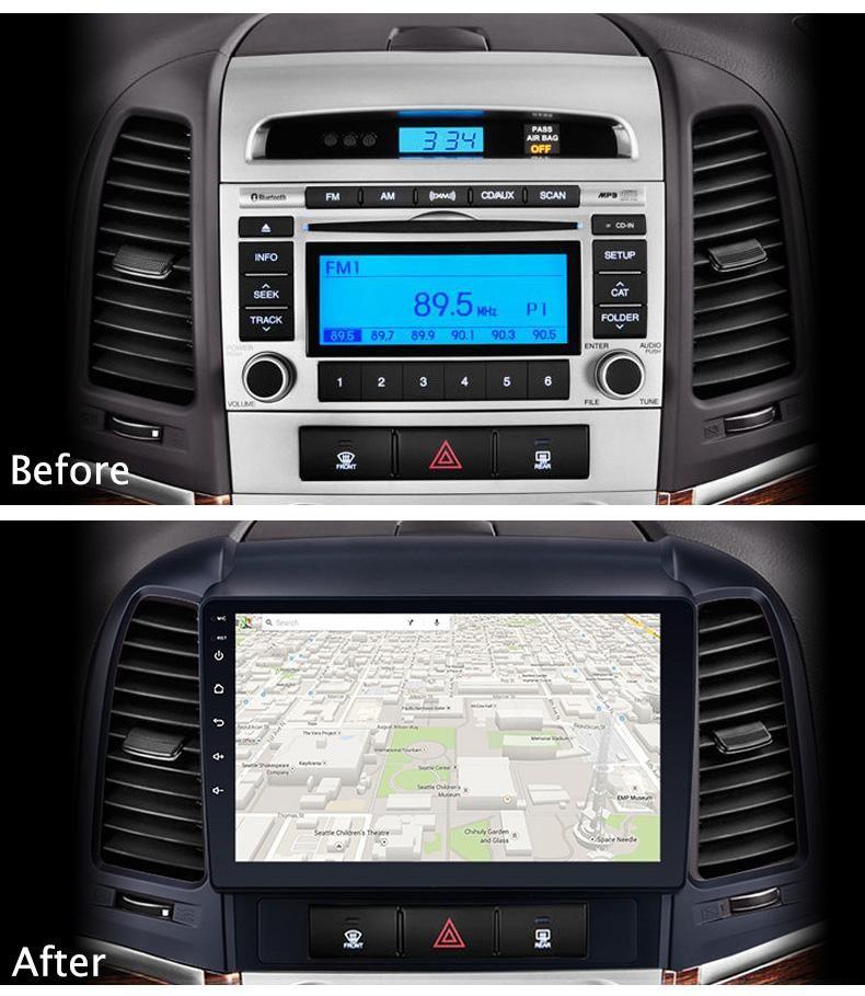 2006-2012 HYUNDAI SANTA FE AUTORADIO WIFI GPS