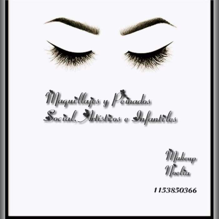 Servicios de Maquillaje Social Y Peinado
