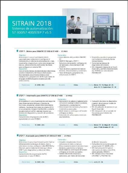 Curso Siemens Sitrain S7 300 Basic-intermedio- Avanzado