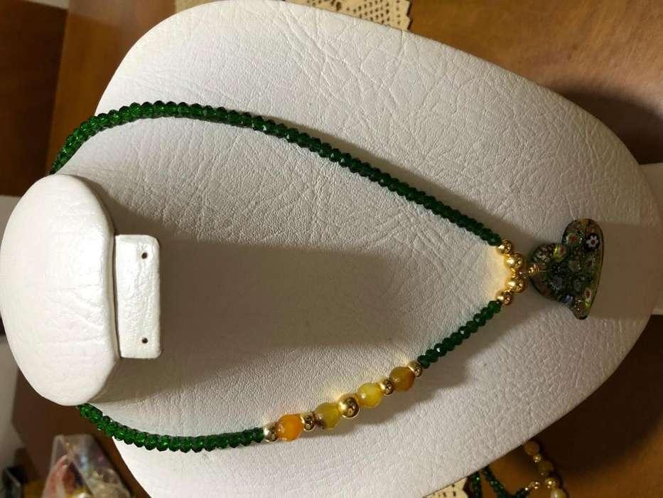 Hermosos collares elaborados con rondel