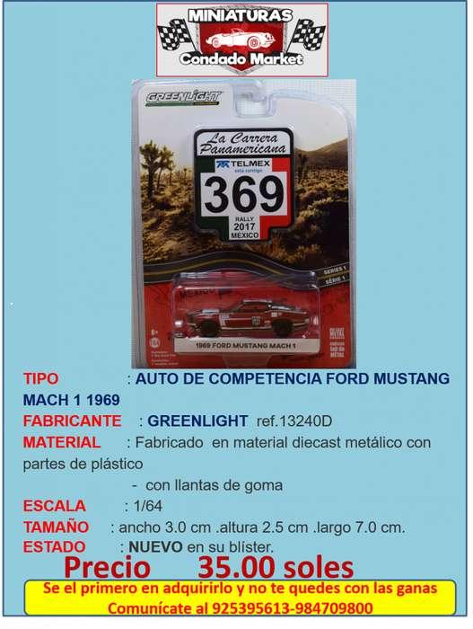 AUTO DE COMPETENCIA FORD MUSTANG MACH 1 1969