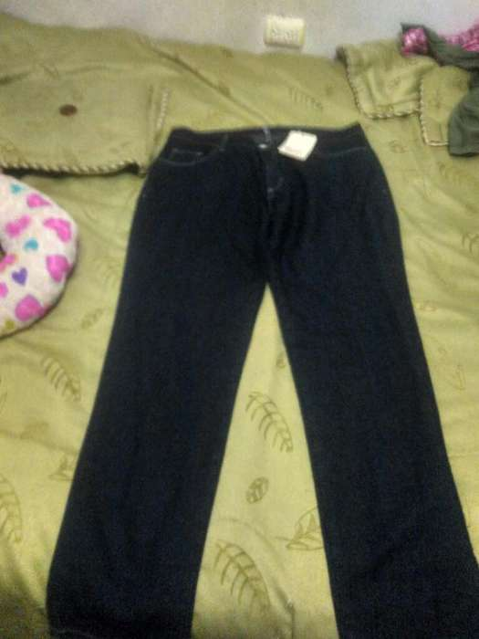 Jeans talla 16 color azul petroleo nuevo con etiqueta