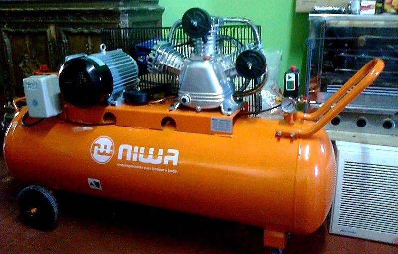 compresor niwa 150lts nuevo mas kit para compreso