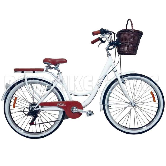 BICICLETA VINTAGE BOX BIKE BLANCO - INVIERNO 2019