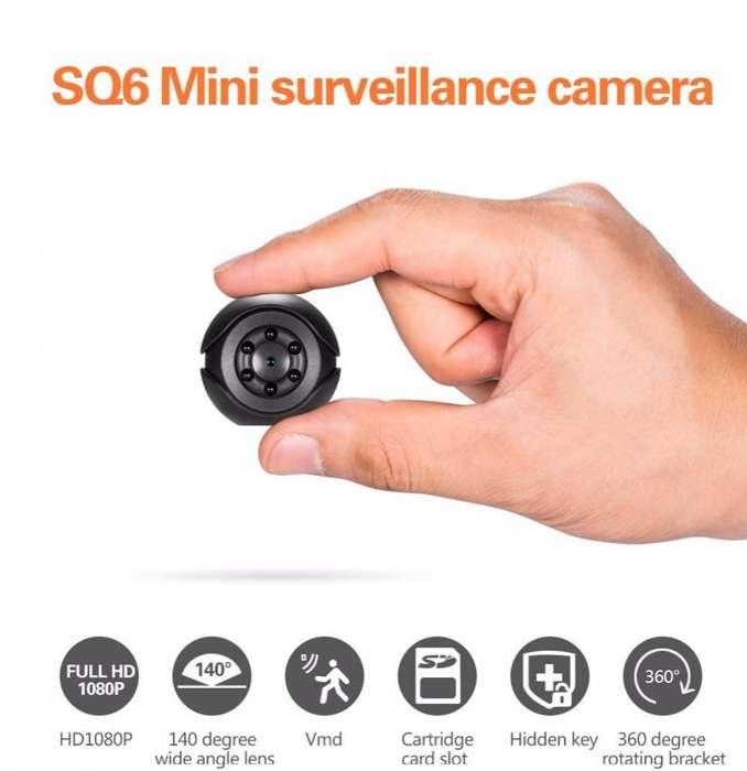 Video cámara digital SQ6, 1080 P, con sensor de movimiento, visión nocturna