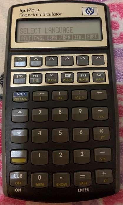 <strong>calculadora</strong> Financiera Hp 17Bll