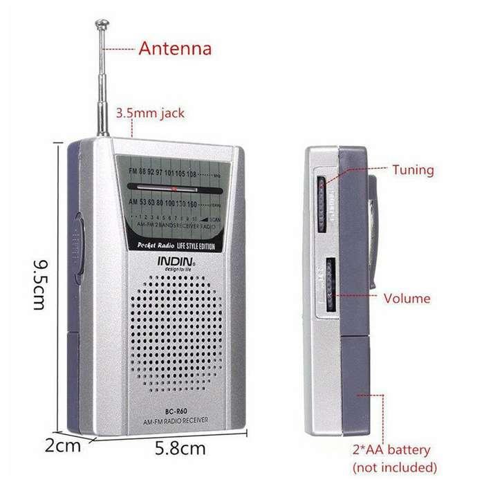 EXCELENTE Radio am -fm con alta voz de 3.5 mm