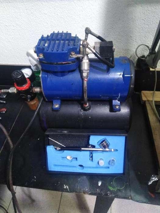 Vendo Compresor Y Aerografo, Aerografia