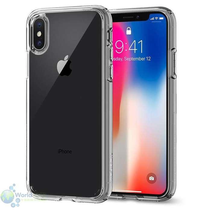 Estuche Case Protector Iphone X Transparente Orig Puregear