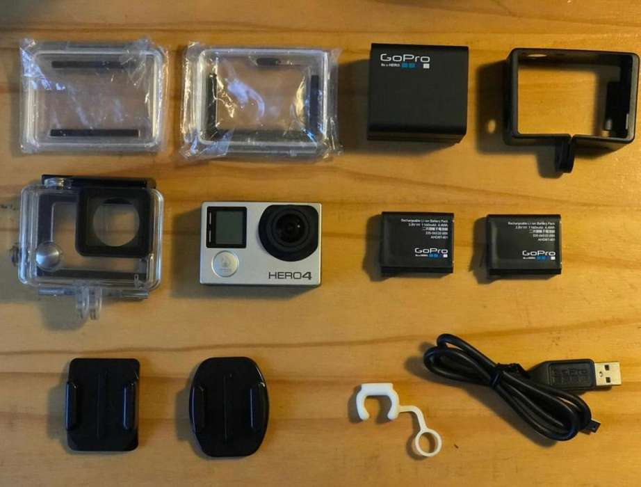 Gopro Hero 4 Silver 2 Baterías Dual Battery Charger