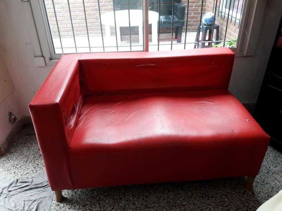Sillon Camastro Eco Cuero Rojo A Retapizar Oferta