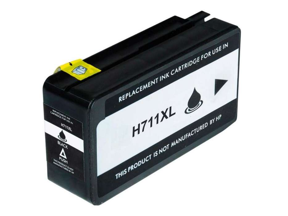 Cartucho generico HP 711 Black XL para plotter T120/T520