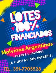LOTES ¡100% FINANCIADOS!