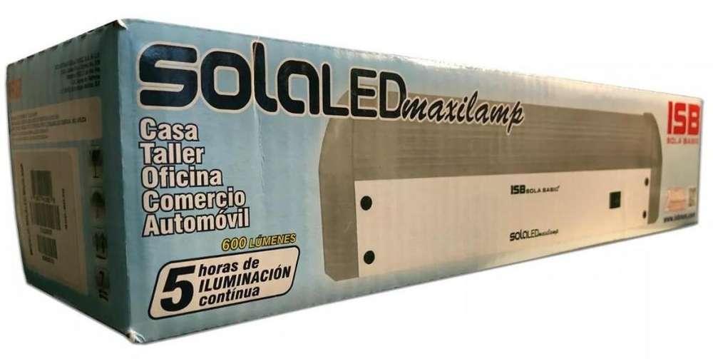 Lampara Emergencia Maxilamp 5hr 600lu Lep-12-90l Sola Basic