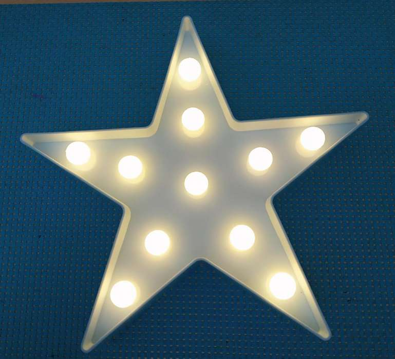 Lampara Velador Luz Led Deco Estrella