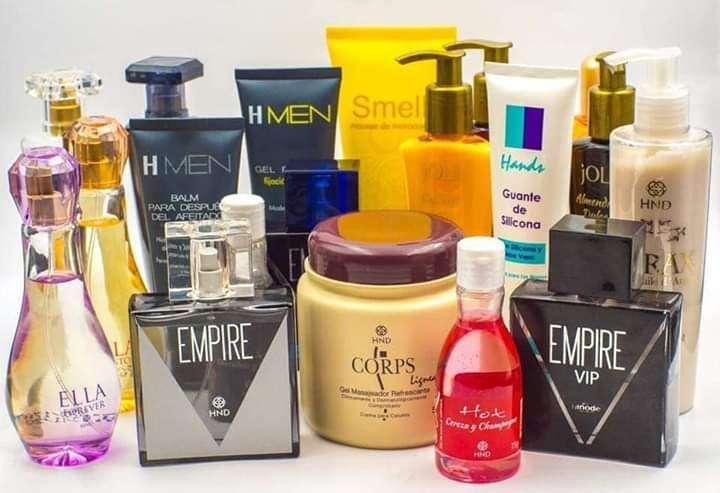 Perfumes, Cremas, Reductores de medidas