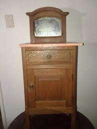 Mesa Luz roble eslavonia alzada con espejo Vintage original