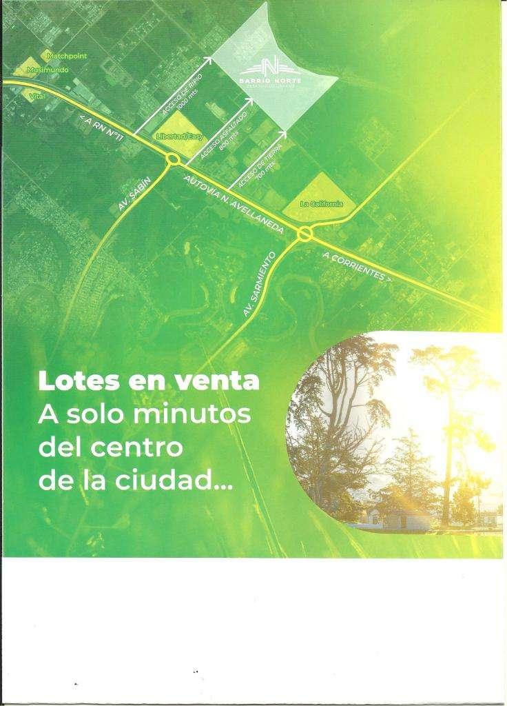 LOTES EN VENTA DE 300 Y 312,50 METROS CUADRADOS, ZONA NORTE, DETRAS DEL HIPER