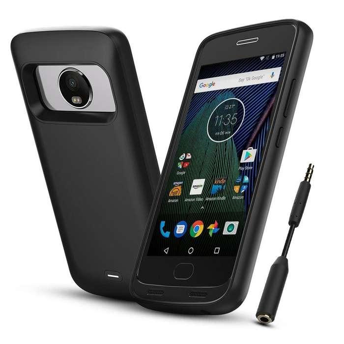 Power Banck Case Funda Bateria Moto G 5 Plus Cargador
