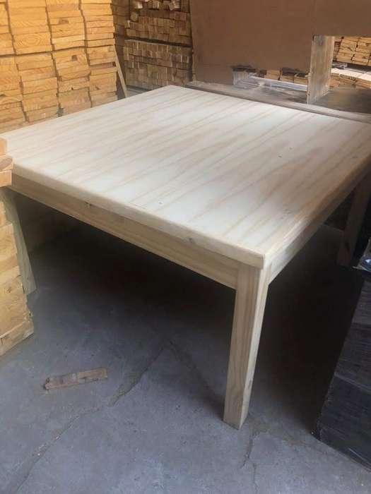 mesa 1.40x1.40 metros de madera nueva!!!!