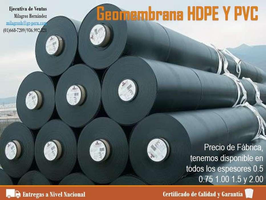 GEOMEMBRANA HDPE Y PVC