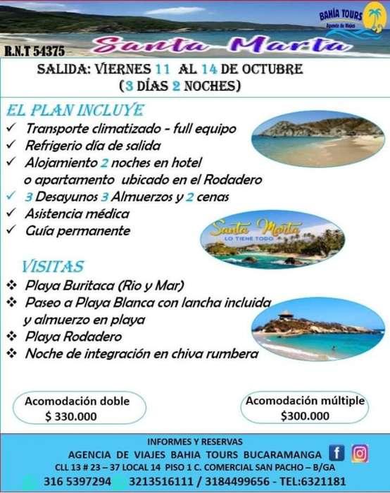 Tour Santa Marta O Cartagena 11 Octubre