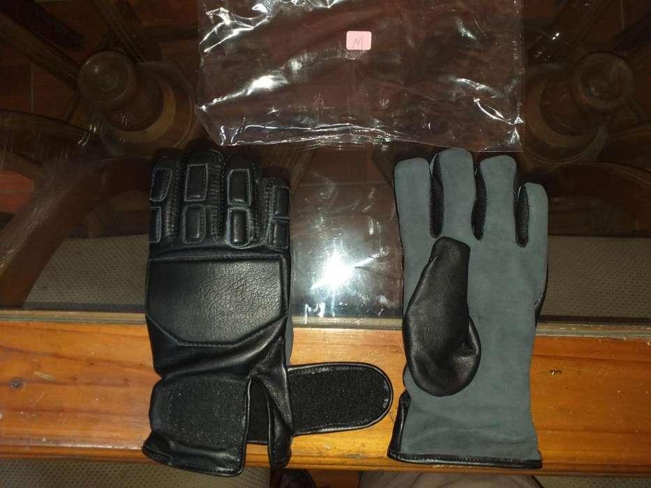 Guantes de Cuero para Motociclistas en varias tallas.