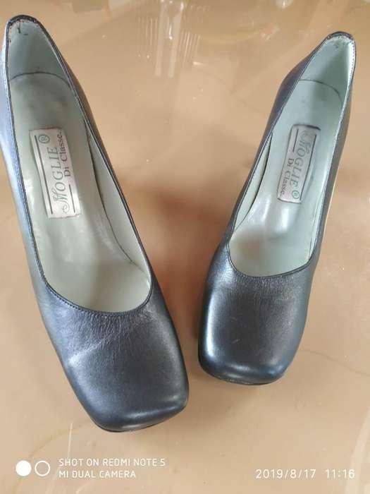 Zapatos para Dama en Cuero.