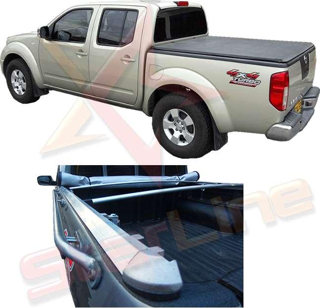 Carpa Plana Nissan Navara Lona Con Marca Enrollable Riel Aluminio Camioneta Ref MC137 ¡Envío Gratis!