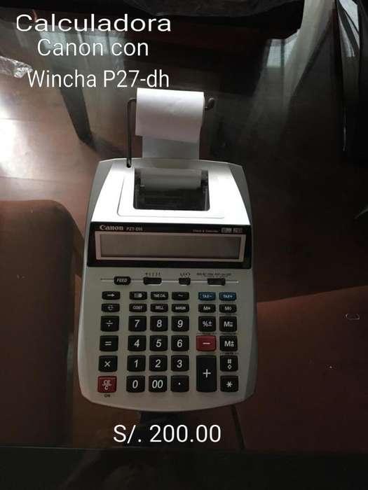 Calculadora Canon con Wincha P27-dh