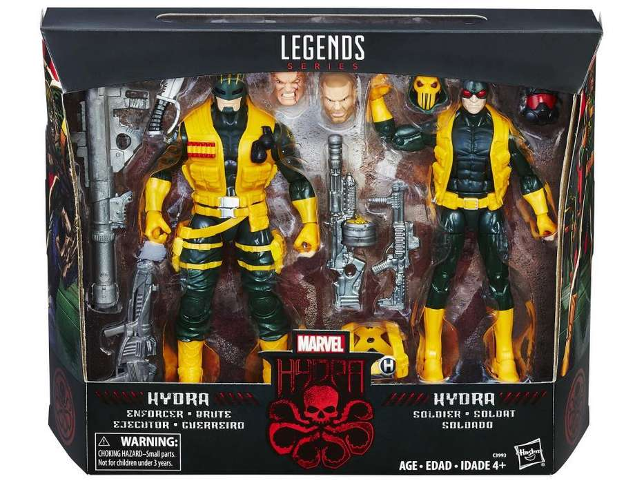 Figura 2pack Marvel Hydra Soldiers Exclusivo Toys R Us