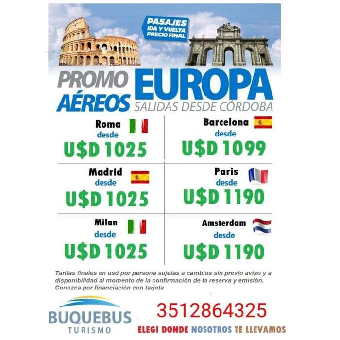 Paquetes turisticos Europa