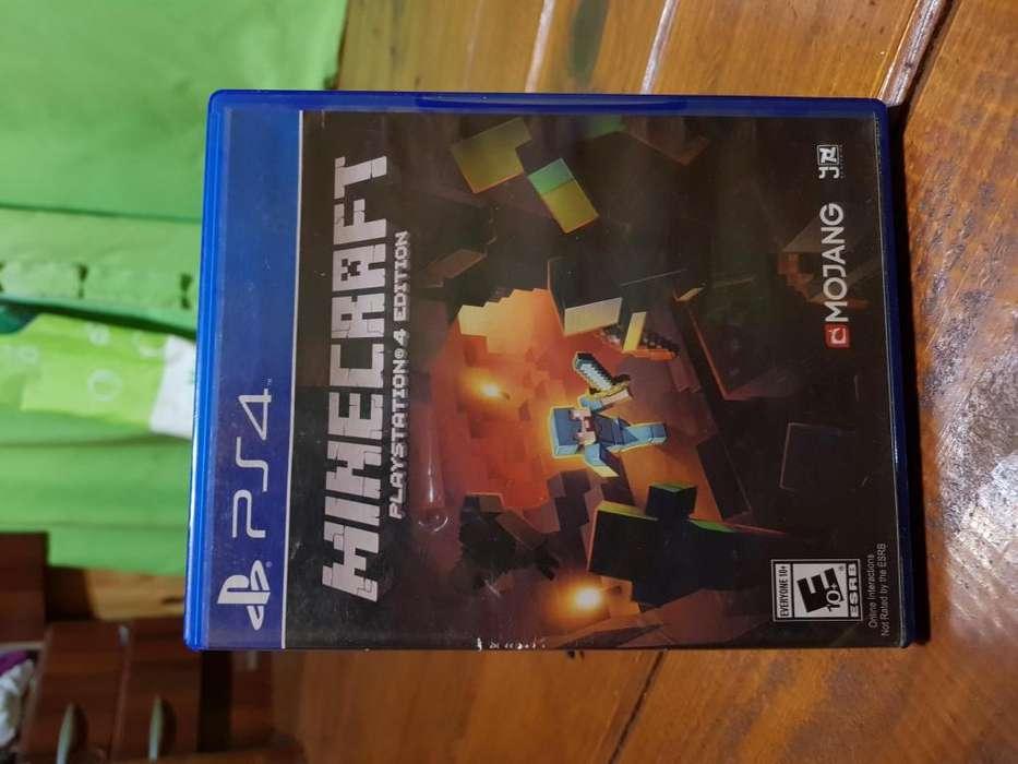 Minecraft juego de PS4 impecable estado