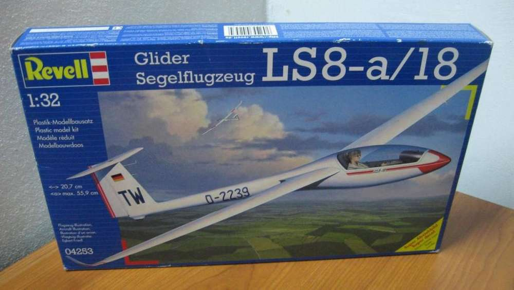 Revell 1/32 Glider Segelflugzeug Caja Sin Abrir En Martinez