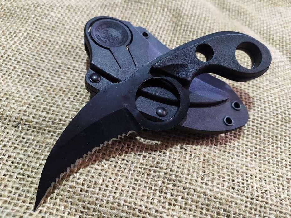 Cuchillo Navaja Kerambit Black Row