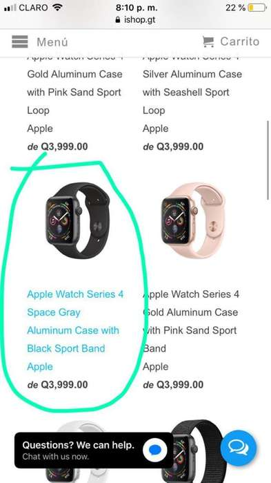 Iwatch Serie 4 Space Gray NUEVO