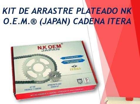 kit de arrastre plateado nk Akt110/wave/ay110